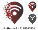 wi fi map marker icon in... | Shutterstock .eps vector #1170243016