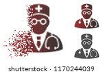 physician icon in dispersed ... | Shutterstock .eps vector #1170244039