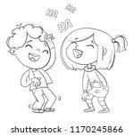 children laugh fun. funny... | Shutterstock .eps vector #1170245866