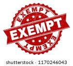 exempt seal print with distress ... | Shutterstock .eps vector #1170246043