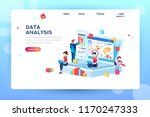 data analysis concept with... | Shutterstock .eps vector #1170247333