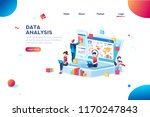data analysis concept with... | Shutterstock .eps vector #1170247843