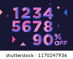 0  1  2  3  4  5  6  7  8  9... | Shutterstock .eps vector #1170247936