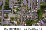 top down aerial view of urban... | Shutterstock . vector #1170251743