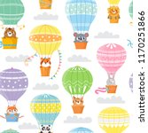 seamless pattern with colorful  ... | Shutterstock .eps vector #1170251866