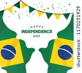 happy brazil independence day... | Shutterstock .eps vector #1170251929