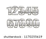 gray numbers on an isolated... | Shutterstock .eps vector #1170255619