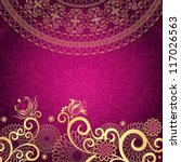 vintage purple frame with gold... | Shutterstock .eps vector #117026563