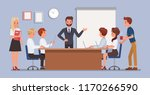 business people working in... | Shutterstock .eps vector #1170266590