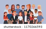 business people working in... | Shutterstock .eps vector #1170266593