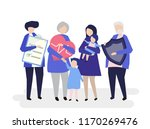 characters of an extended... | Shutterstock .eps vector #1170269476