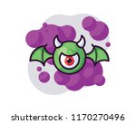 flying monster vector... | Shutterstock .eps vector #1170270496