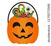 halloween candy bucket and... | Shutterstock .eps vector #1170272500