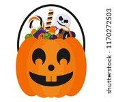 halloween candy bucket and...   Shutterstock .eps vector #1170272503