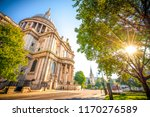 st pauls cathedral with sun... | Shutterstock . vector #1170276589