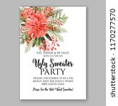 poinsettia christmas party...   Shutterstock .eps vector #1170277570