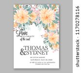 peach peony wedding invitation | Shutterstock .eps vector #1170278116