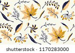 Autumn Leaves In Cartoon Style...