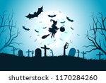 halloween background with... | Shutterstock .eps vector #1170284260