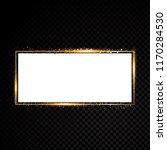 vector rectangle frame. shining ... | Shutterstock .eps vector #1170284530