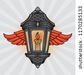 traditional lantern and wing... | Shutterstock .eps vector #1170285133
