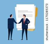 contract paper document...   Shutterstock .eps vector #1170285373