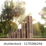 investment concept  coins graph ... | Shutterstock . vector #1170286246