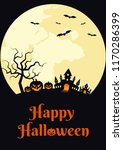 happy halloween night poster... | Shutterstock .eps vector #1170286399