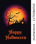 happy halloween night poster... | Shutterstock .eps vector #1170286510