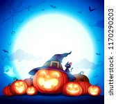 halloween celebration fun party.... | Shutterstock .eps vector #1170290203