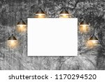 mock up poster with ceiling... | Shutterstock . vector #1170294520