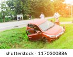 blurred image of car accident. | Shutterstock . vector #1170300886