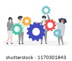 characters of business people... | Shutterstock .eps vector #1170301843
