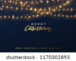christmas background with... | Shutterstock .eps vector #1170302893
