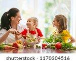Healthy Food At Home. Happy...