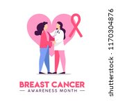 breast cancer awareness... | Shutterstock .eps vector #1170304876