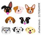 cute pups face set | Shutterstock .eps vector #1170304999