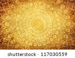 grunge background with oriental ... | Shutterstock . vector #117030559