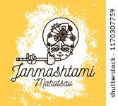 happy janmashtami. vector logo... | Shutterstock .eps vector #1170307759