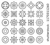 gear and cog icons set  line... | Shutterstock .eps vector #1170311260