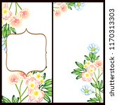 romantic wedding invitation... | Shutterstock . vector #1170313303