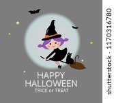 halloween holiday greeting card ... | Shutterstock .eps vector #1170316780