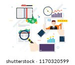 evaluation of financial support ... | Shutterstock .eps vector #1170320599