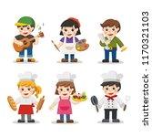 kid set of different... | Shutterstock .eps vector #1170321103