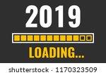 2019 loading with progress bar | Shutterstock .eps vector #1170323509
