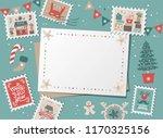 festive christmas border  frame ... | Shutterstock .eps vector #1170325156