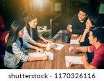 asian younger freelance... | Shutterstock . vector #1170326116