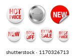 universal mockup of white badge.... | Shutterstock .eps vector #1170326713