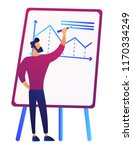 businessman in front of board... | Shutterstock .eps vector #1170334249