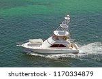 sports fishing boat cruising in ... | Shutterstock . vector #1170334879